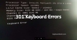 301 Keyboard Errors